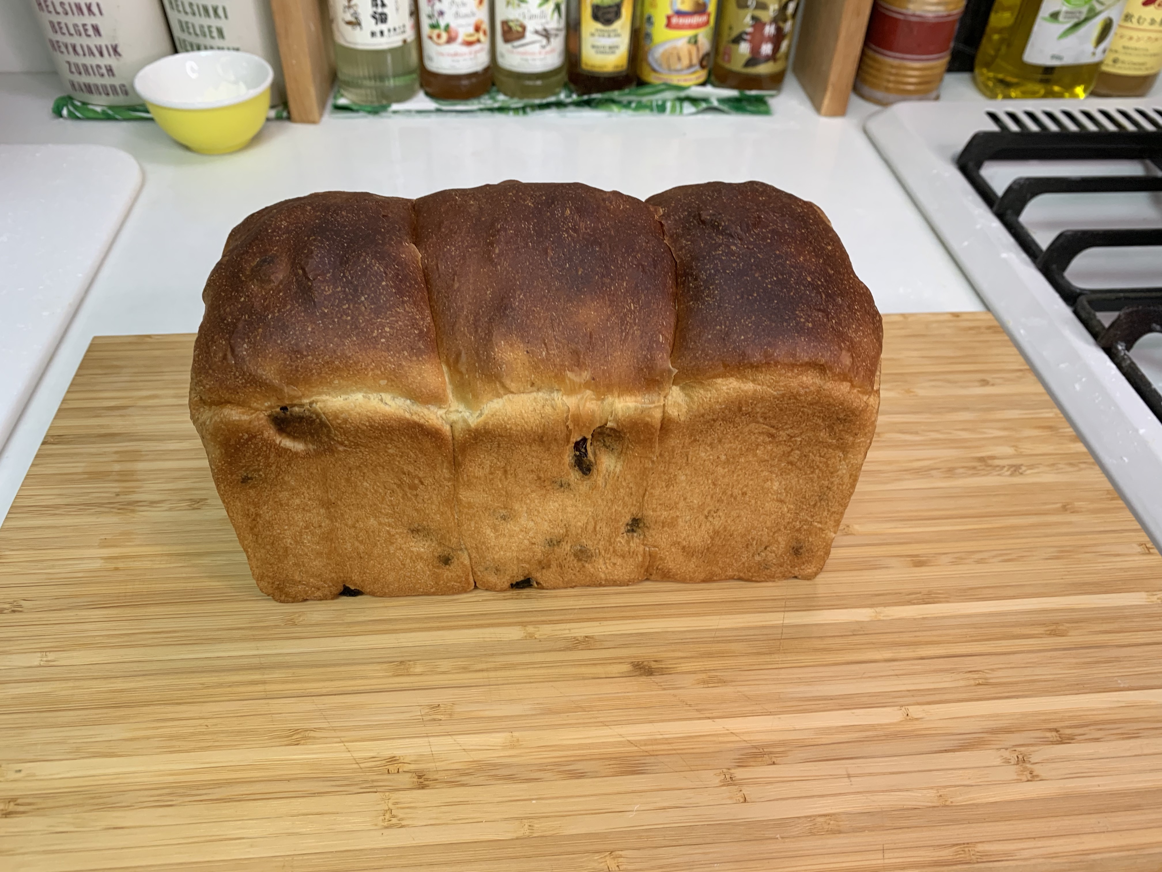 黒糖レーズン食パンの作り方(ポーリッシュ50%でしっとり柔らか)